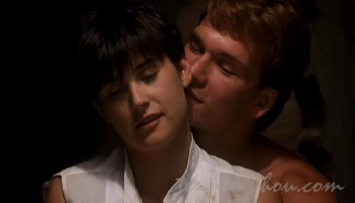 モリーにキスをするサム