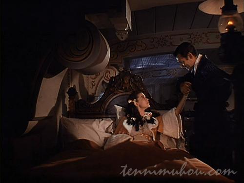 豪華客船で新婚旅行中のスカーレットとバトラー様