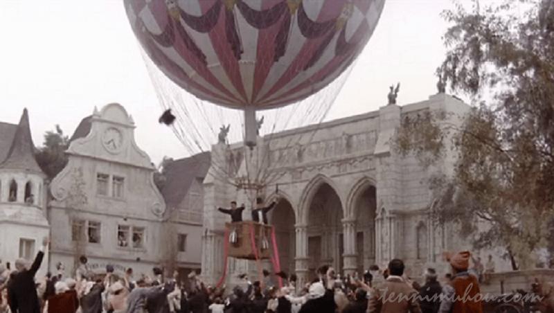 気球を買い取り旅に出るフォッグとパスパルトゥ