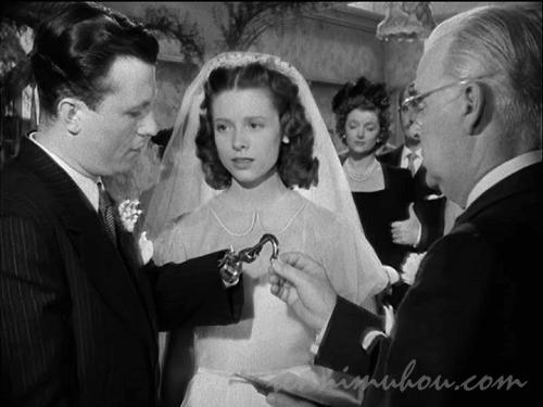 結婚式を挙げるホーマーとウィルマ
