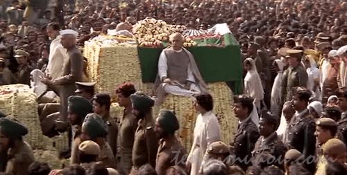 ガンジーの国葬の様子