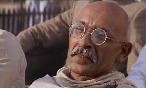 晩年のマハトマ・ガンジー