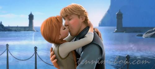 アナとクリストフのキス