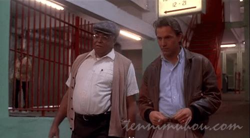 テレンス・マンと野球を見るレイ
