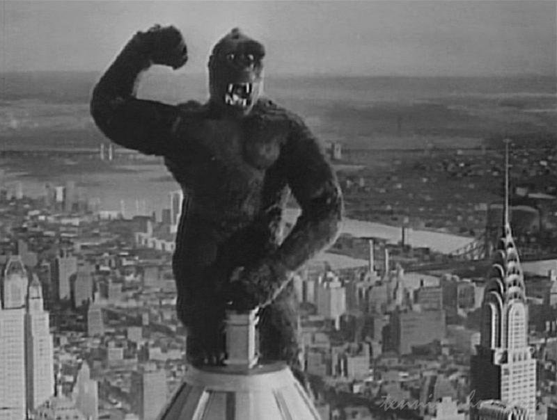 エンパイア・ステート・ビルに登るコング