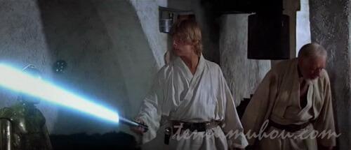 ライトセーバーをもらったルーク