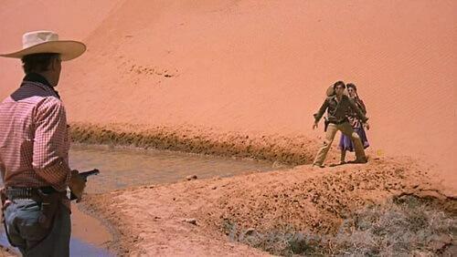 インディアンの妻になったデビーを殺そうとするイーサン