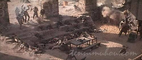 マパッチの砦を破壊するパイク達