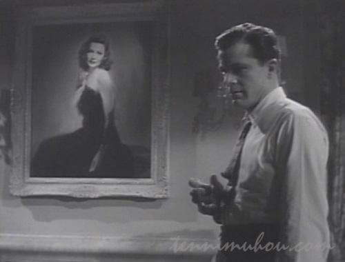 ローラの肖像画を眺めるマクファーソン刑事