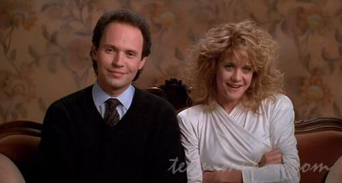 馴れ初めインタビューに応じるハリーとサリー