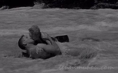 波打ち際のキス