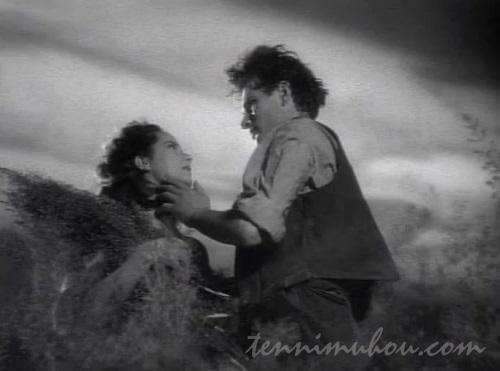 荒野で愛し合うヒースクリフとキャシー