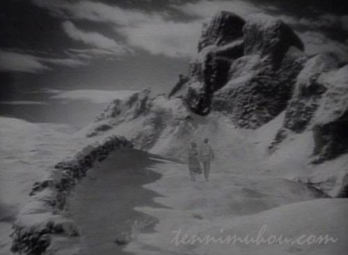 二人で山へ旅立つヒースクリフとキャシー
