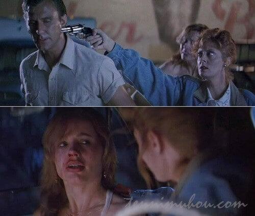 ハーランを撃ち殺すルイーズ